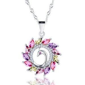 Jewelry - Gorgeous Zircon Peacock Necklace